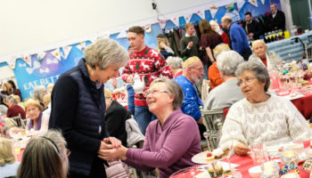 Attendees with Theresa may