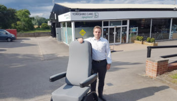 Yorkshire-Cares-MD-Tristan-Hulbert-with-the-ProSpec-Hospital-Chair